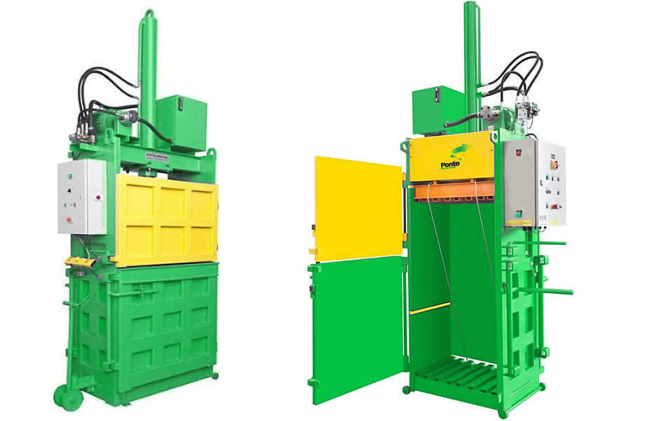 prensa hidraulica para reciclagem de papelão